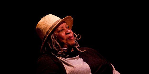 WASHINGTON, DC - SEPTEMBER 21: Toni Morrison speaks during  An Evening with Toni Morrison at Lisner Auditorium at George Wash