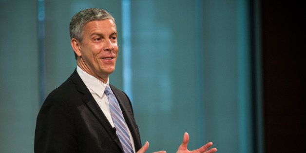 NEW YORK, NY - JUNE 16:  Arne Duncan, U.S. Secretary of Education, speaks at a press conference announcing that Starbucks wil