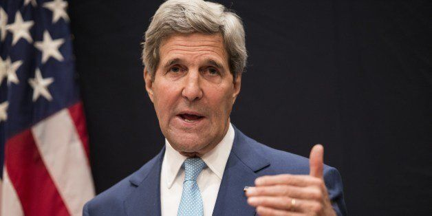 US Secretary of State John Kerry speaks during a joint press conference June 22, 2014 in Cairo, Egypt. US Secretary of State