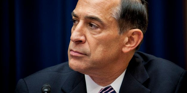 Representative Darrell Issa, a Republican from California, chairs a House Oversight and Government Reform Committee hearing i