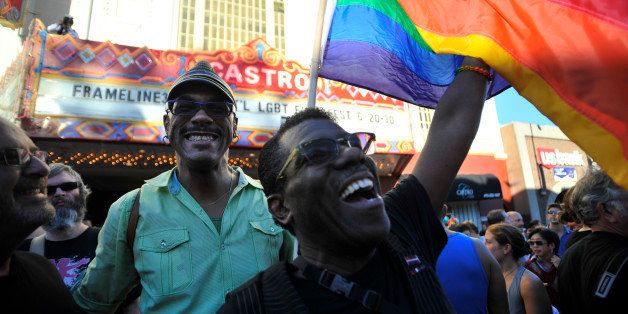 Celebrations ensue in the Castro neighborhood of San Francisco, California, June 26, 2012, after the US Supreme Court struck
