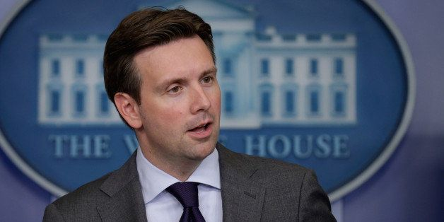 WASHINGTON, DC - JULY 11:  White House Press Secretary Josh Earnest answers reporters' questions during the daily news briefi