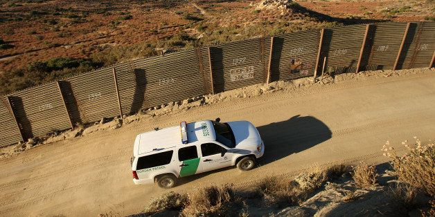 CAMPO, CA - JULY 30:  US Border Patrol agents carry out special operations near the US-Mexico border fence following the firs