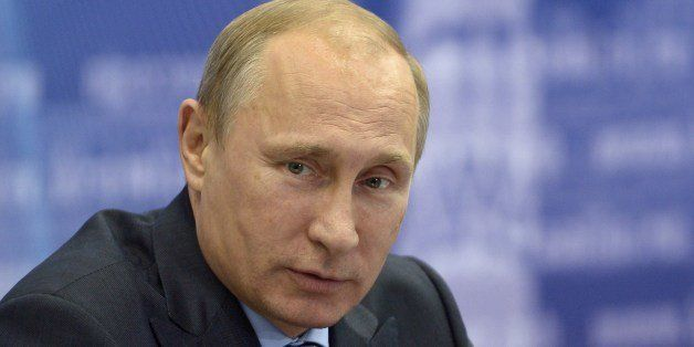 Russia's President Vladimir Putin attends a meeting in the Volga River region of Samara, on July 21, 2014. US President Barac