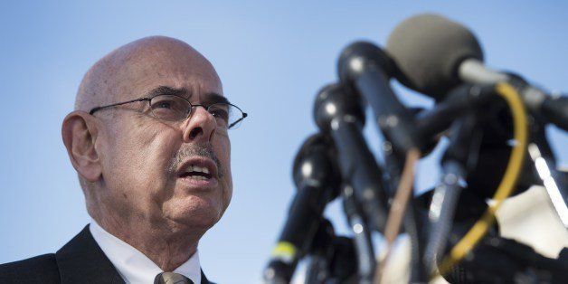US Congressman Henry Waxman, D-California, speaks during a press conference with the family members of deceased drivers of Ge