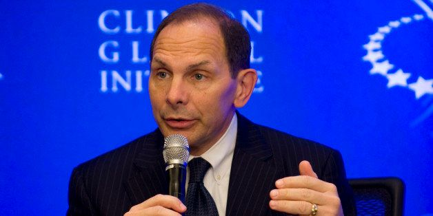 Proctor & Gamble CEO Bob McDonald speaks during the 2012 Clinton Global Initiative annual meeting September 23, 2012 in New