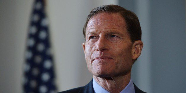 Senator Richard Blumenthal, D-T, is seen before the start of a press conference calling for the creation of an independent mi