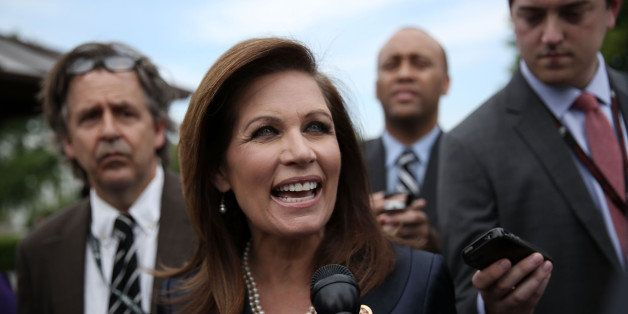 WASHINGTON, DC - MAY 16:  U.S. Rep. Michele Bachmann (R-MN) speaks to reporters after a news conference May 16, 2013 on Capit