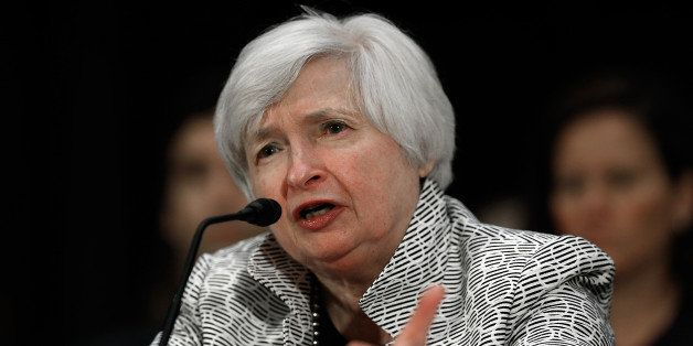 WASHINGTON, DC - JULY 15: Federal Reserve Board Chairwoman Janet Yellen testifies before the Senate Banking, Housing and Urban Affairs Committee July 15, 2014 in Washington, DC. Yellin delivered her 'Semiannual Monetary Policy Report to the Congress.' (Photo by Win McNamee/Getty Images)