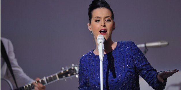 Singer Katy Perry performs at a concert in celebration of the Special Olympics on July 31, 2014 in the East Room of the White