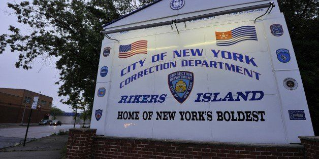 A sign of Rikers Island, where IMF head Dominique Strauss-Kahn will be held, is pictured in Queens, New York on May 16, 2011.