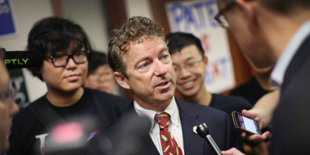 URBANDALE, IA - AUGUST 06:  U.S. Rand Paul (R-KY) fields questions and greets guests after speaking at an event hosted by the