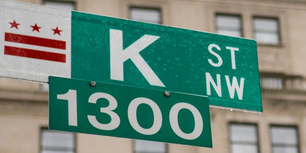 UNITED STATES - FEBRUARY 14:  A thin coat of ice covers a K Street sign in Washington on Feb. 14, 2007.  (Photo By Bill Clark