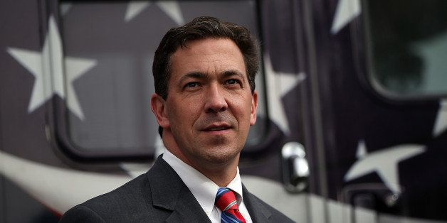 FLOWOOD, MS - JUNE 23:  Republican candidate for U.S. Senate, Mississippi State Sen. Chris McDaniel looks on during a campaig