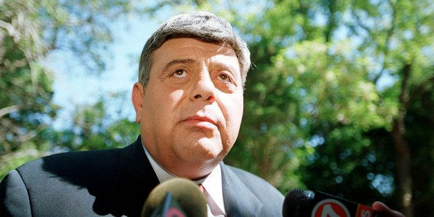 390350 06: Providence R.I. mayor Vincent 'Buddy' Cianci Jr. speaks to the press regarding the death of actor Anthony Quinn Ju