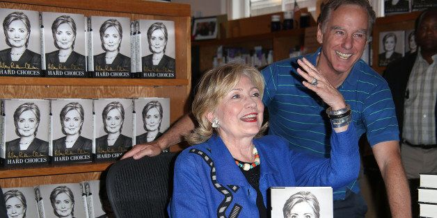 EAST HAMPTON, NY - AUGUST 16:  Hillary Rodham Clinton and Howard Dean at  book signing of 'Hard Choices' at BookHampton on Au