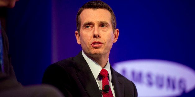 David Plouffe, former senior adviser to U.S. President Barack Obama and Bloomberg News analyst, speaks at the Bloomberg Year