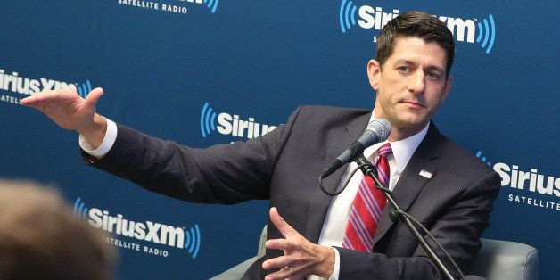 NEW YORK, NY - AUGUST 19:  Congressman Paul Ryan visits at SiriusXM Studios on August 19, 2014 in New York City.  (Photo by R