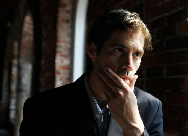 FILE - In this Friday, May 27, 2011, file photo, journalist James Foley responds to questions during an interview with The As