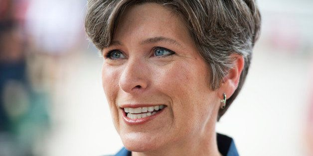UNITED STATES - AUGUST 08: Joni Ernst, Iowa Republican Senate candidate, campaigns at the 2014 Iowa State Fair in Des Moines,