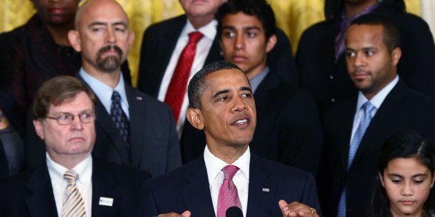 WASHINGTON, DC - SEPTEMBER 23:  U.S. President Barack Obama speaks at an event on reform of the 'No Child Left Behind' educat