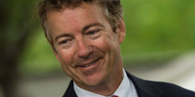 IOWA CITY, IA    AUGUST 5:  Senator Rand Paul (R-KY) leaves an event in Iowa City, Iowa, on Tuesday, August 5, 2014. (Photo b