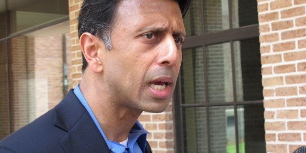 Gov. Bobby Jindal speaks about an injunction request that his lawyer filed, Wednesday, Aug. 6, 2014 in Baton Rouge, La. Jinda