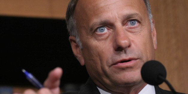 FILE - In this June 19, 20007 file photo, Rep. Steve King, R-Iowa, speaks to reporters on Capitol Hill in Washington. (AP Pho