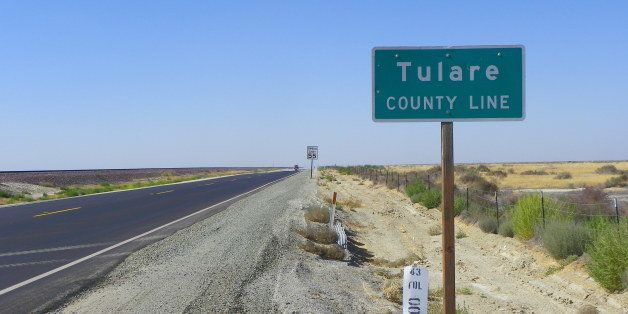 Entering Tulare County from Kern County, California