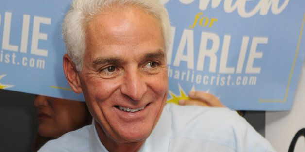 BOCA RATON, FL - AUGUST 19: Former Florida Governor Charlie Crist opens a campaign office on August 19, 2014 in Boca Raton, F