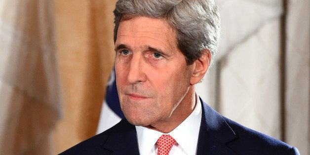 SYDNEY, AUSTRALIA - AUGUST 12:  US Secretary of State John Kerry speaks to the media during a press conference at the conclus