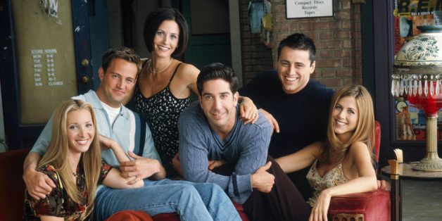 FRIENDS -- Pictured: (l-r) Lisa Kudrow as Phoebe Buffay, Matthew Perry. as Chandler Bing, Courteney Cox Arquette as Monica Ge