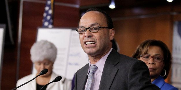 """In the ongoing debate over U.S. immigration policy, Rep. Luis V. Gutierrez, D-Ill., leads a news conference outlining his efforts to defeat the the HALT Act, """"Hinder the Administration's Legalization Temptation Act,"""" being advanced by House Judiciary Committee Chairman Lamar Smith, R-Texas, on Capitol Hill in Washington, Thursday, July 21, 2011. (AP Photo/J. Scott Applewhite)"""