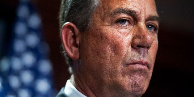 UNITED STATES - JULY 15: Speaker John Boehner, R-Ohio, conducts a news conference in the RNC after a meeting of House republi