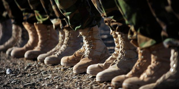 January 4, 2010 - Afghan National Army Air Corp Soldiers get ready to fill the boots of U.S. Forces troops as they prepare fo