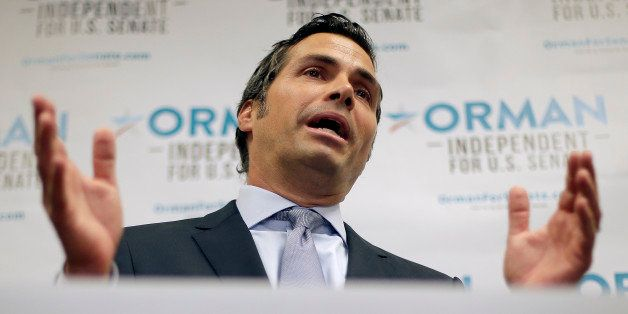 Greg Orman, an independent candidate for U.S. Senate, talks about launching his statewide television and radio ad campaign du
