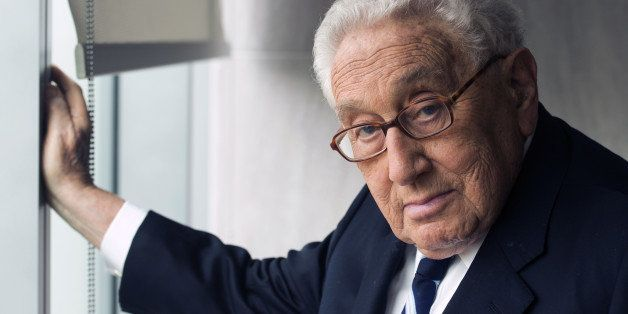 WASHINGTON, DC- SEPTEMBER 03: Henry A. Kissinger, author of his new book World Order, photographed in his office in Washingt