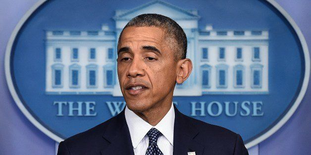US President Barack Obama speaks on foreign policy in the Brady Press Briefing Room at the White House in Washington, DC, on