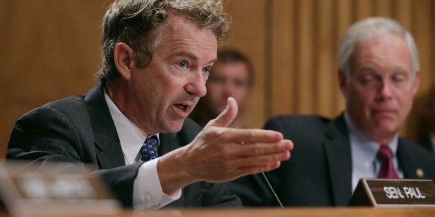 WASHINGTON, DC - SEPTEMBER 09:  Sen. Rand Paul (R-KY) questions witnesses about military equipment given to local law enforce