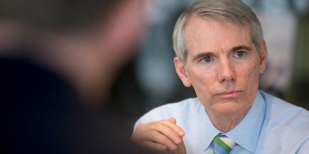 Senator Rob Portman, a Republican from Ohio, speaks during an interview in Washington, D.C., U.S., on Thursday, July 10, 2014