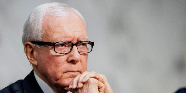 Senator Orrin Hatch, a Republican from Utah, listens to testimony during a Senate Finance Committee hearing on Capitol Hill i