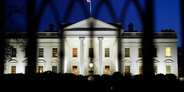 The White House as seen at night on Monday, Nov., 14, 2011 in Washington. The six Democrats and six Republicans have until ne