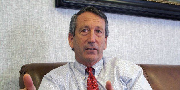 FILE - In this  Dec. 18, 2013 file photo, U.S. Rep. Mark Sanford, R-S.C., discusses his first months back in Congress during