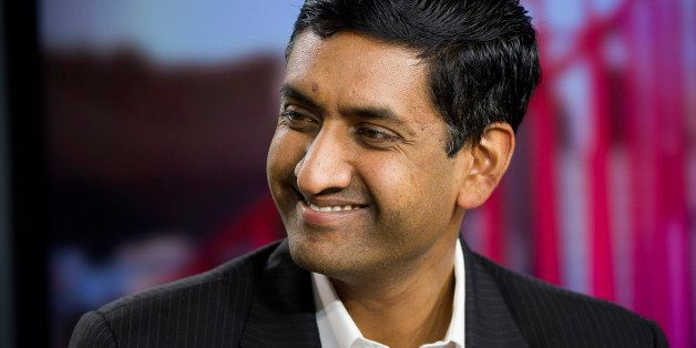 Congressional candidate Rohit 'Ro' Khanna smiles during a Bloomberg West Television interview in San Francisco, California, U