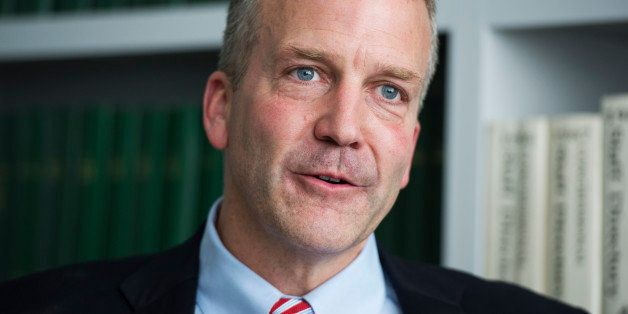 UNITED STATES - JUNE 4: Dan Sullivan, Republican senate candidate from Alaska, is interviewed in Roll Call's Washington offic