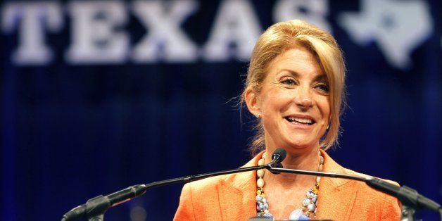 Texas State Sen. Wendy Davis speaks to delegates after speaking at the Democratic State Convention on Friday, June 27, 2014,