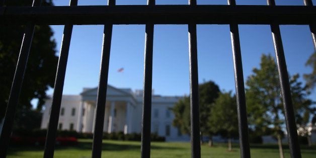 WASHINGTON, DC - SEPTEMBER 22:  The wrought iron fence that surrounds the White House is shown, September 22, 2014 in Washing