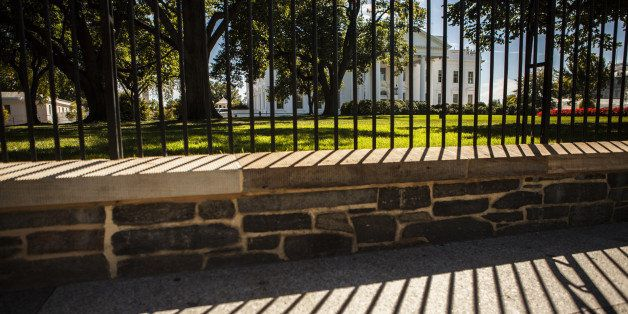 WASHINGTON DC, UNITED STATES - SEPTEMBER 22:  A view of The White House after the homeless 42-year-old man Omar Gonzales jump