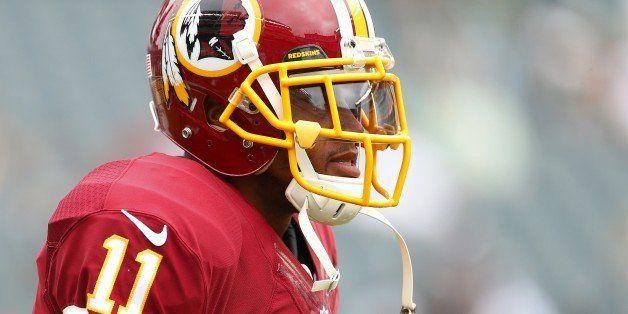 PHILADELPHIA, PA - SEPTEMBER 21:  DeSean Jackson #11 of the Washington Redskins looks on before playing against the Philadelp