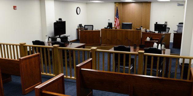 ARLINGTON, VA - JANUARY 31:  Pictured is one of ten court rooms at the U.S. Department of Justice Executive Office for Immigr